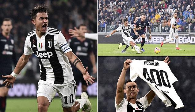 Ronaldo kiến tạo tung đòn kết liễu, Juve dễ dàng đánh bại Cagliari, độc chiếm ngôi đầu bảng
