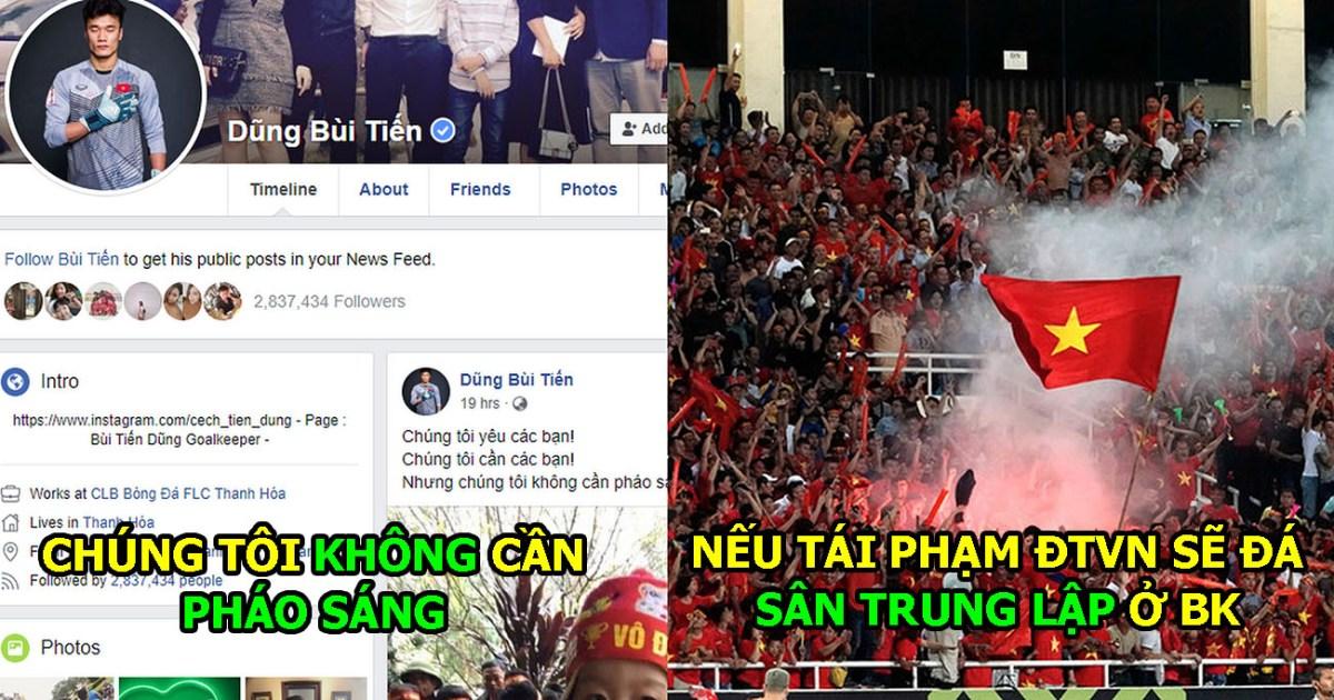 Không muốn phải đá sân trung lập, Tiến Dũng và Quang Hải chung tay lên án nạn pháo sáng khiến tất cả nể phục