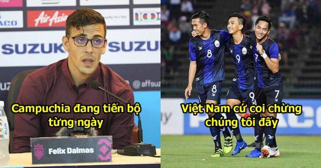 """Trợ lý Campuchia mạnh mồm phát biểu: """"Chúng tôi không cần HLV Honda có mặt vẫn đủ sức đánh bại Việt Nam"""""""