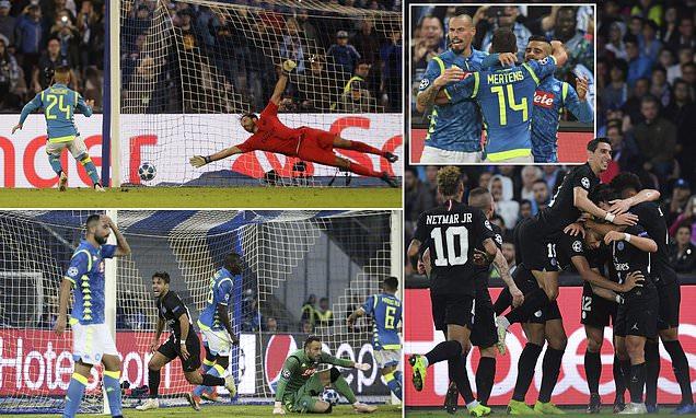 """Kết quả Napoli vs PSG: Kịch tính """"Người nhện"""" 40 tuổi hóa tội đồ"""