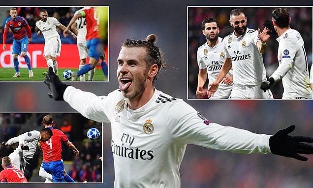 """Bale nổ súng rồi kiến tạo, Real khẳng định sức mạnh của nhà ĐKVĐ khi vùi dập Plzen với cú """"re-poker"""" hoàn hảo"""