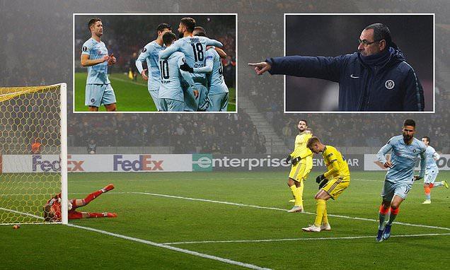 Kết quả BATE vs Chelsea: Khung gỗ 3 lần giải cứu và người hùng không ai ngờ tới
