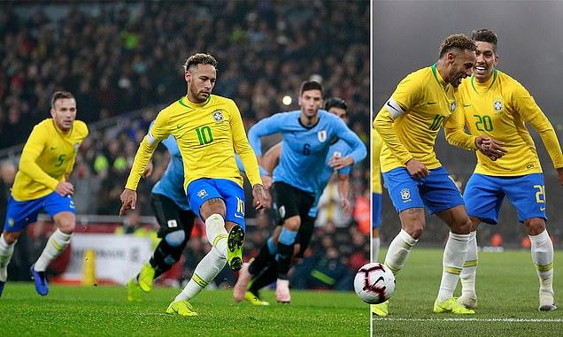 """""""Tiểu Pele"""" lại rực sáng, Brazil nhẹ nhàng hạ gục Uruguay trong một trận cầu đầy kịch tính"""