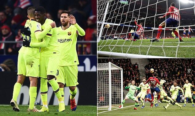 """""""Bom xịt"""" Dembele tỏa sáng ngay phút cuối cùng, Barca chia điểm đầy may mắn trước Atletico Madrid"""