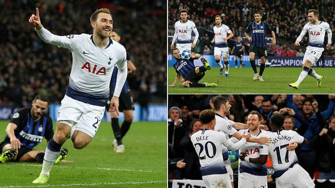 """Bùng nổ phút cuối, siêu sao Đan Mạch giữ lại hi vọng đi tiếp cho """"Gà trống"""" Tottenham"""