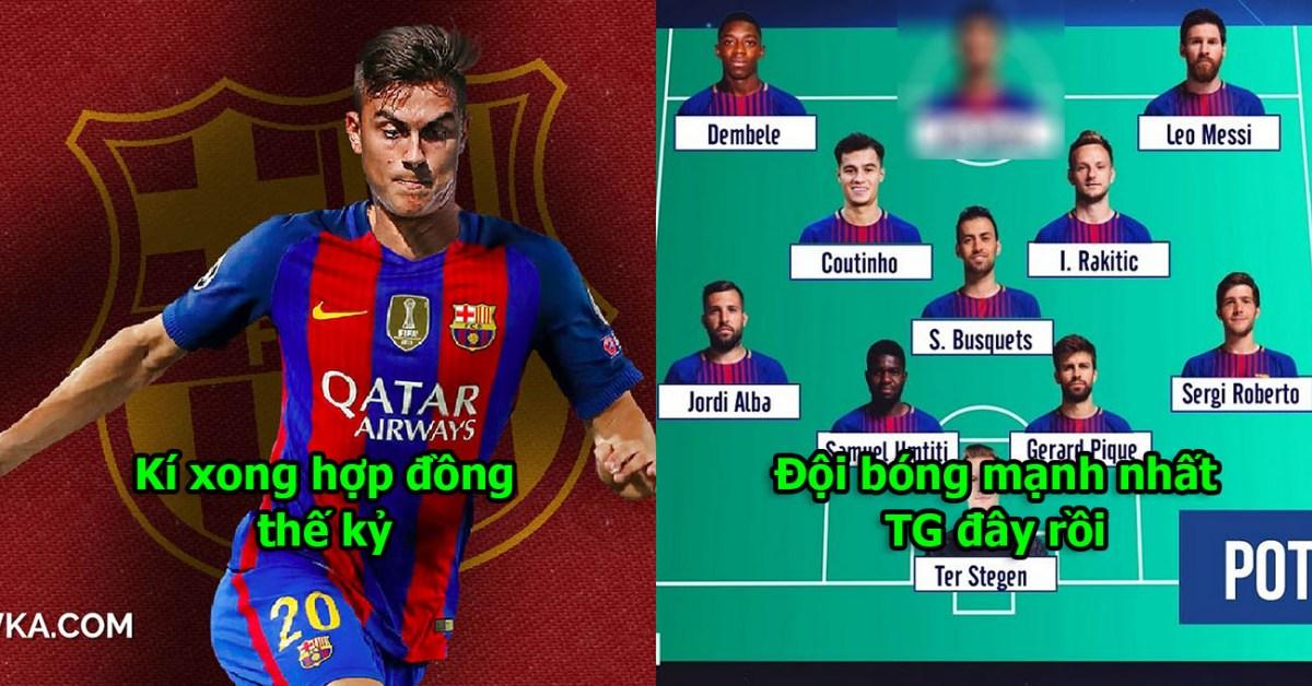 Vượt mặt M.U, Barca chốt 250 triệu euro mang về tiền đạo chất hơn cả Suarez, trao luôn cúp C1 cho họ luôn đi