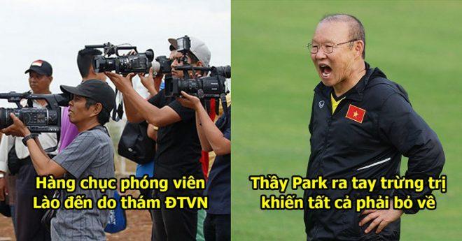 Phóng Viên Lào quay nén thám thính ĐTVN, HLV Park đã làm điều không tưởng khiến tất cả thất vọng