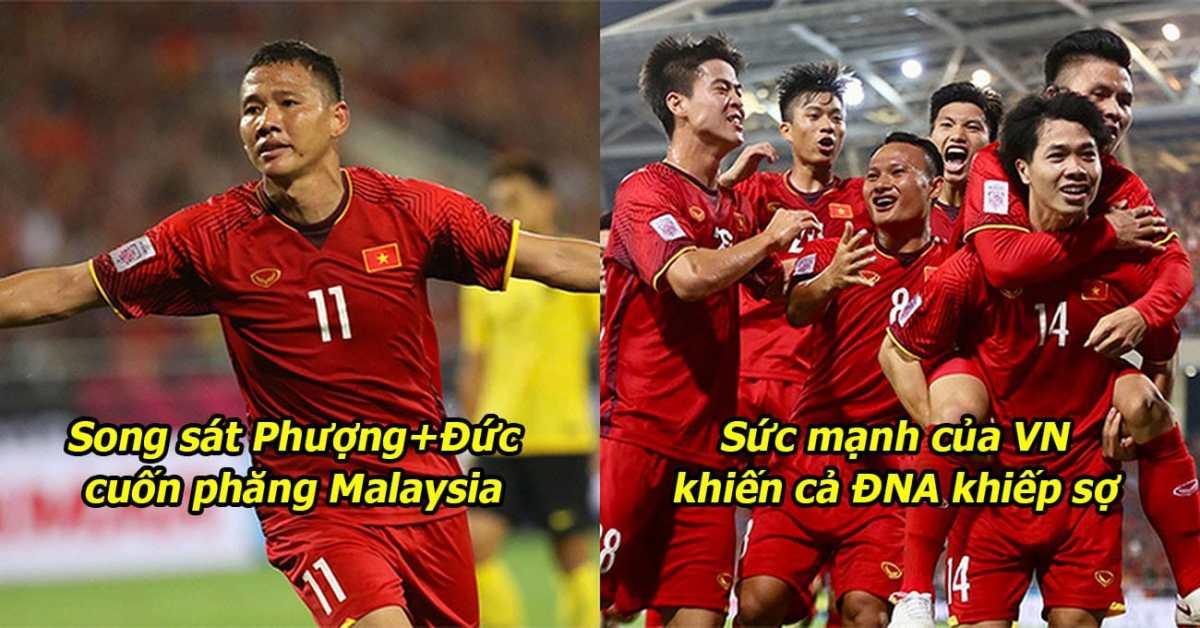 Phượng-Đức song kiếm hợp bích khiến cả Mỹ Đình nổ tung, Việt Nam xuất sắc bón hành Malaysia qua đó giành ngôi đầu bảng