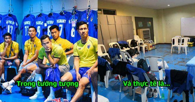 Trận đấu giữa Philippines và Thái Lan được FIFA công nhận là cấp độ A, nhìn vào phòng thay đồ thì hết sức tồi tàn