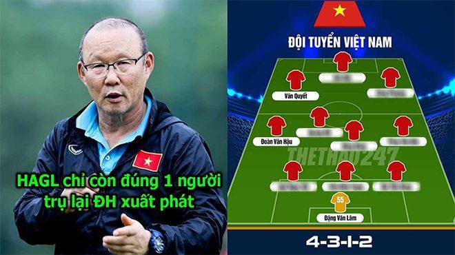 CHÍNH THỨC: Với đội hình này Việt Nam của thầy Park xử Lào trong 1 nốt nhạc!