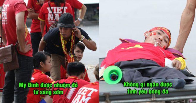 CHÙM ẢNH: NHM Việt Nam nhuộm đỏ Mỹ Đình từ sáng sớm, xúc động trước 1 CĐV đặc biệt