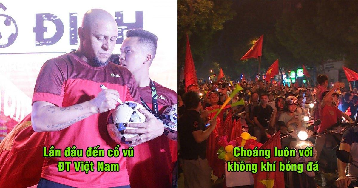 """Huyền thoại Roberto Carlos: """"Tôi thực sự choáng ngợp trước sự cuồng nhiệt của CĐV Việt Nam, Tôi tin rằng ĐTVN sẽ Vô Địch AFF CUP"""""""