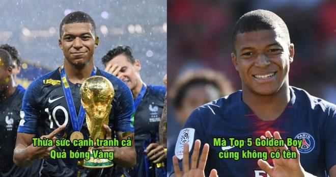Thật không thể tin nổi: Top 5 để cử danh hiệu Golden Boy không có tên Mbappe