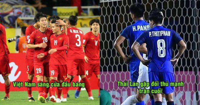 Việt Nam chắc suất vào bán kết, Thái Lan lo lắng bị loại khỏi AFF CUP 2018