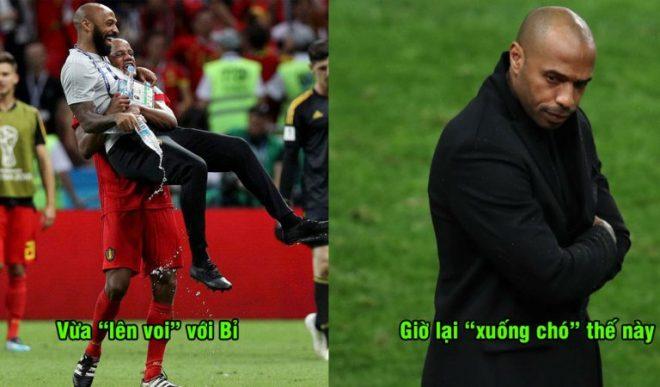 Chỉ vừa mới hưởng thụ vinh quang với Bỉ ở World Cup, số phận huyền thoại Henry giờ xuống dốc thảm hại thế này đây