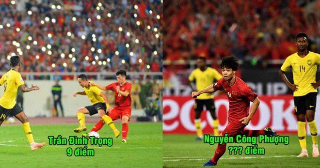 """Chấm điểm dàn sao Việt Nam ngày đại thắng Malaysia ở Mỹ Đình: Gà Son Công Phượng lại là """"hung thần"""" của người Mã Lai"""
