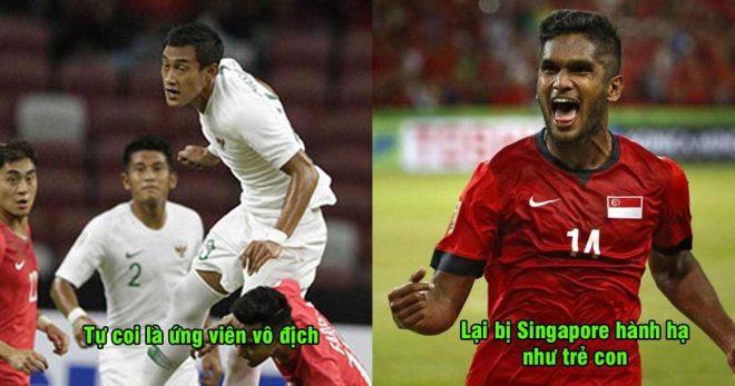 Tự nhận là ứng viên vô địch, Indonesia bị Singapore dạy cho một bài học, cửa bị loại rộng thênh thang