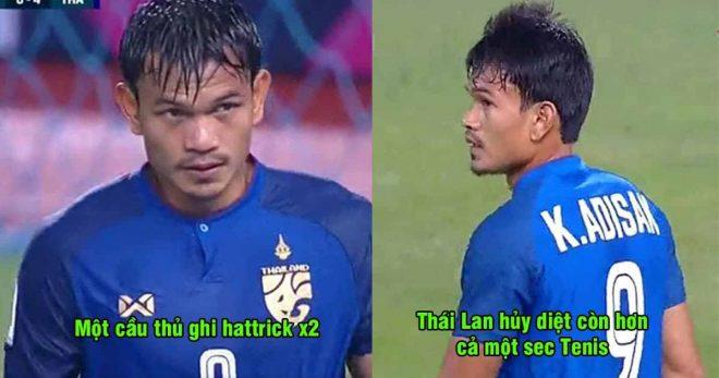 Tưởng nhớ cố chủ tịch Vichai, Thái Lan nhẹ nhàng đè bẹp đội bóng yếu nhất giải với tỉ số không tưởng
