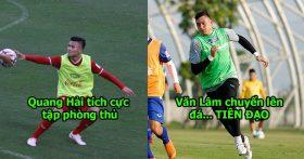 CHÙM ẢNH: Đội tuyển Việt Nam tập luyện chiến thuật cực lạ, Thái Lan với Malaysia nhìn thấy có mà choáng váng