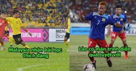 Cay đắng lãnh bàn thua ở những phút cuối, ĐT Lào đen đủi nhận thất bài trước Malaysia