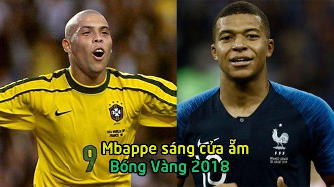 """Quả bóng Vàng 2018: """"Siêu thần đồng"""" Mbappe sáng cửa vượt Ronaldo """"béo"""""""