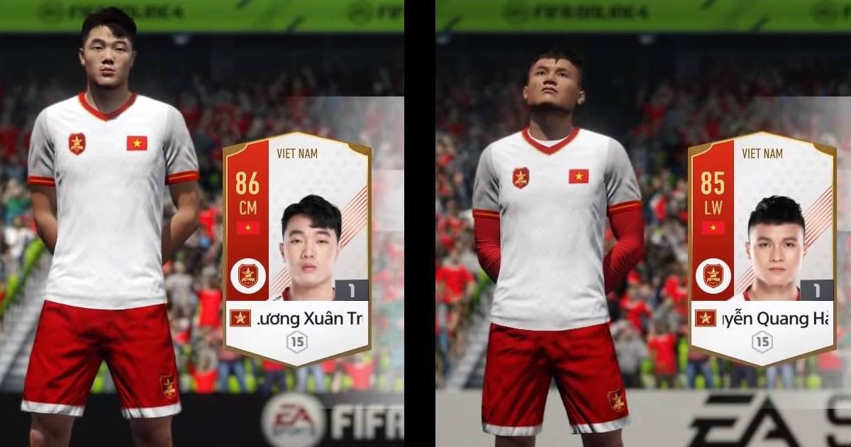 QUÁ TUYỆT VỜI: Dàn sao U23 VN xuất hiện như những vị thần trong FIFA online 4, nhìn Quang Hải ai cũng sung sướng vì quá đẹp trai