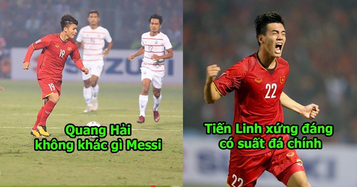 Quang Hải đá như Messi nhập, Việt Nam bón hành ngập mặt cho Campuchia, gửi lời thách thức tới Thái Lan