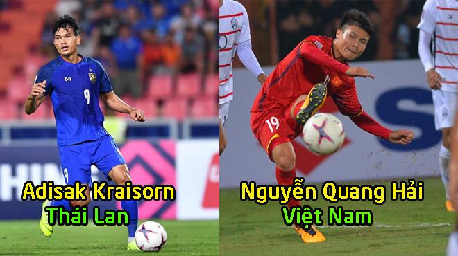 """Điểm mặt 5 ƯCV sáng giá cho danh hiệu cầu thủ hay nhất AFF Cup: Quang Hải cạnh tranh cùng """"s.á.t t.h.ủ"""" Kraisorn"""