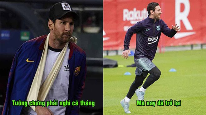 Hồi phục nhanh một cách thần kỳ, Messi chính thức trở lại giúp Barca quật ngã Inter Milan