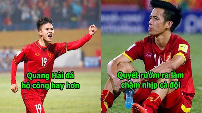 Văn Quyết không còn hợp với sơ đồ trong trận đấu với Philippines nữa rồi, giờ đã đến lúc nhường chỗ cho Quang Hải tỏa sáng