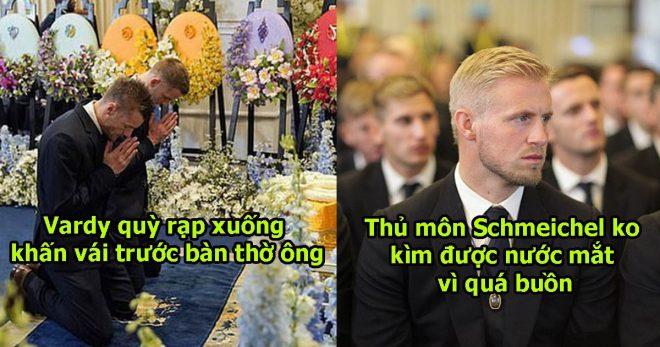 Ban lãnh đạo và cầu thủ Leicester sang Thái Lan viếng cố Chủ tịch Vichai: Thủ môn Kasper Schmeichel thất thần trước bàn thờ ông Vichai