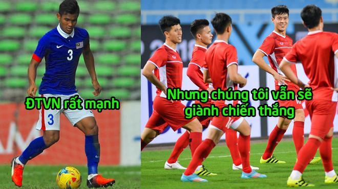 """Cầu thủ Malaysia: """"Đừng quá đề cao ĐTVN, chúng tôi sẽ giành chiến thắng cho mà xem"""""""