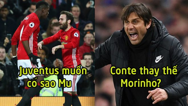 CHUYỂN NHƯỢNG 01/11: Từ chối Real, Conte quyết tâm cướp ghế Mourinho; Juventus bất ngờ hỏi mua sao M.U