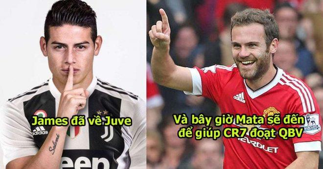 """Mua xong James, Juve lại sắp """"thịt"""" nốt Mata, hàng tiền vệ khủng bố thế này thủ môn nào ngăn được CR7 ghi bàn"""