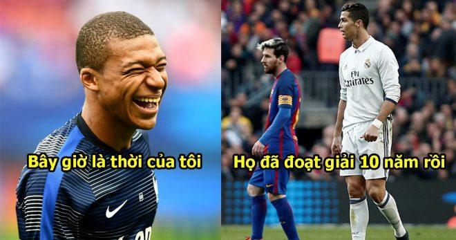 Mbappe ngạo nghễ khẳng định: QBV năm nay là của tôi. Tôi sẽ đánh bại Messi và Ronaldo