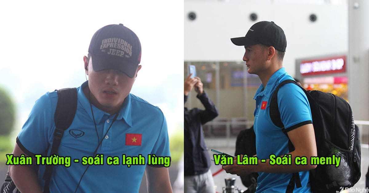 CHÙM ẢNH: Cầu thủ Việt Nam hừng hực khí thế lên đường sang Myanmar, Văn Hậu bị dàn mỹ nữ vây kín