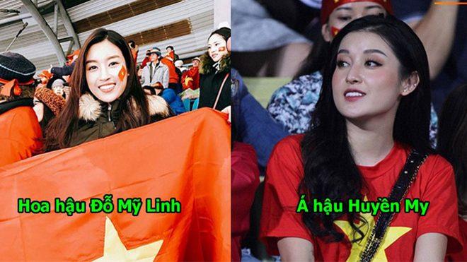Khi sao Việt nô nức đi cổ vũ ĐTVN: Huyền My, Hòa Minzy trùm kín vẫn xinh, nhìn sang Ngọc Trinh rõ chán
