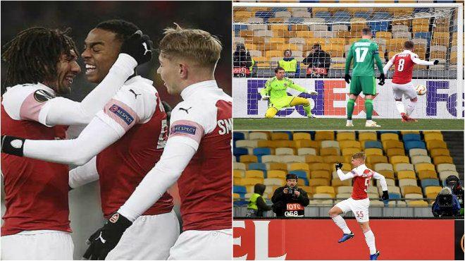 """Kết quả Vorskla Poltava vs Arsenal: """"Pháo trẻ"""" tung hoành, chóng vánh 45 phút"""