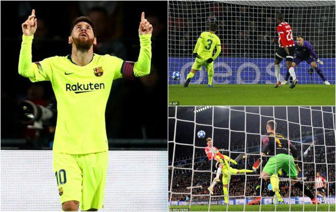 """Kết quả PSV vs Barcelona: Nguy hiểm rình rập, """"thần hộ mệnh"""" Messi thay trời hành đạo"""