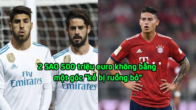 """Cay đắng Real: 2 SAO 500 triệu euro không bằng một góc """"kẻ bị ruồng bỏ"""""""