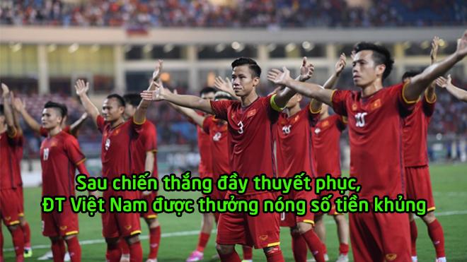 Giành chiến thắng xuất sắc, ĐT Việt Nam được thưởng nóng sau trận thắng ĐT Malaysia
