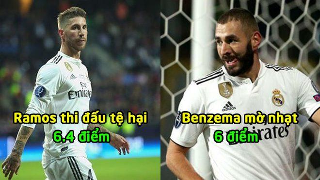 Chấm điểm Real sau trận Eibar: Bale chưa phải tệ nhất, nỗi thất vọng mang tên Ramos