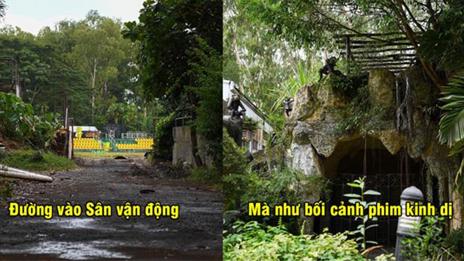 Cận cảnh con đường đi vào sân đấu Bán kết lượt đi của ĐT Việt Nam, nhìn như nơi hoang dã vậy