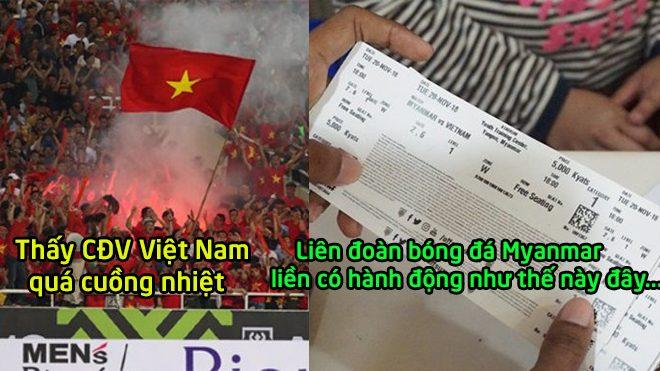 Sợ hãi trước sự cuồng nhiệt của NHM chúng ta, Myanmar quyết định siết chặt an ninh với CĐV Việt Nam ở AFF Cup 2018