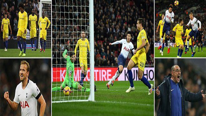 """""""Ronaldo Hàn"""" lập siêu phẩm thần sầu, Tottenham bán no hành cho Chelsea ngay tại thánh địa Wembley"""