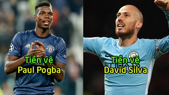 Đội hình kết hợp giữa Man City và MU: Paul Pogba đá cặp Davil Silva lĩnh xướng tuyến giữa