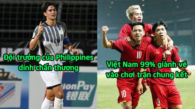 """TIN CỰC VUI: Con """"quái vật"""" của Philippines bất ngờ dính chấn thương, Việt Nam 99% lọt vào trận chung kết rồi"""