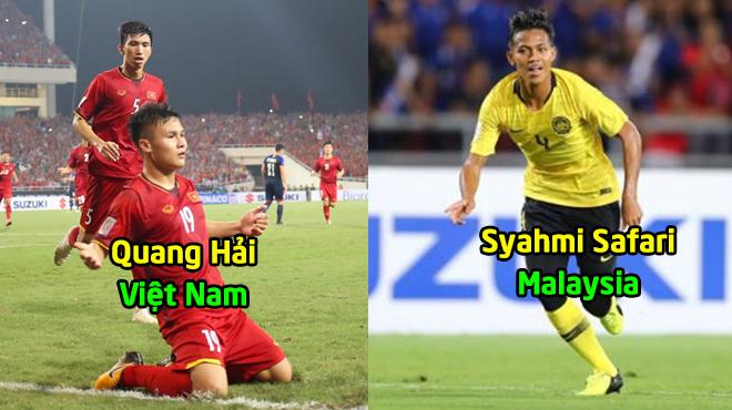"""Top 4 ngôi sao xuất sắc nhất bán kết lượt về AFF Cup 2018: Quang Hải sánh vai cùng """"Cơn lốc"""" người Mã"""
