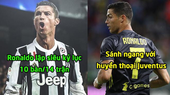 """Ronaldo """"bắn hạ"""" siêu kỷ lục 60 năm: 10 bàn/14 trận sánh ngang huyền thoại Juve"""