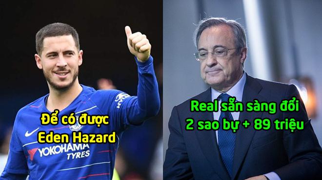 ĐI.ÊN RỒ: Real đưa ra lời đề nghị khó tin; Hazard = 89 triệu bảng + 2 sao bự
